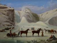 Robert Clow Todd~The Ice Cone, Montmorency Falls,