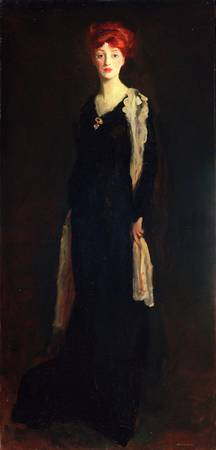 Robert Henri~Lady in Black with Spanish Scarf (O i