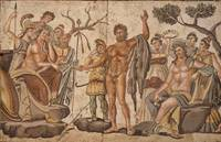 Roman~Mosaic Panels, The Musical Contest between A