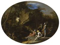 Salvator Rosa~Landscape with Armed Men