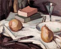 Samuel John PEPLOE~Still life with pears and wineg