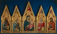 Simone Martini~Virgin and Child with Saints