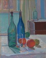 Spencer Frederick Gore~Blue and Green Bottles and