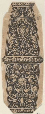 Theodor de Bry~Design for a Sword or Dagger Handle