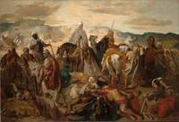 Théodore Chassériau~Arab Horsemen Carrying Away Th