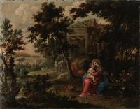 Unknown author~Rest during the flight to Egypt