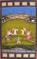 Unknown~Chand Bibi playing Polo