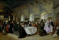 Vasily Perov~Monastic Refectory