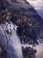 Vasily Surikov~Suvorov Crossing the Alps in 1799