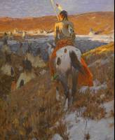 W. Herbert Dunton~Winter Camp of the Sioux