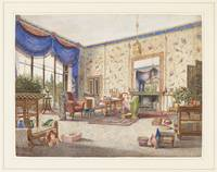 William Alfred Delamotte~The Drawing Room at Middl