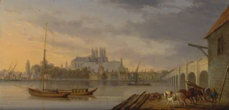 William Anderson~A View of Westminster Bridge and