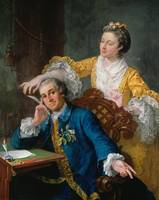 William Hogarth~David Garrick (1717-79) with his w
