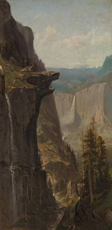 William Keith~Yosemite Falls, from Glacier Point