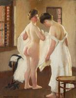 William McGregor Paxton~Women Dressing