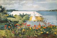 Winslow Homer~Flower Garden and Bungalow, Bermuda