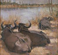 Xu Beihong~Cows in India