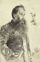 Adolphe von Menzel~Study of a Man with a Beard, Hi