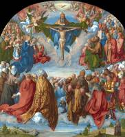 Albrecht Durer~Adoration of the Trinity (Landauer