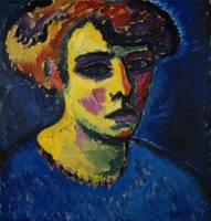 Alexei Jawlensky~Frauenkopf [Head of a Woman]