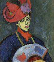 Alexei Jawlensky~Schokko with Red Hat