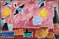 Alexei Jawlensky~Still Life with Bottle, Bread and