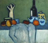 Alexei Jawlensky~Still Life with Bottle, Fruit and