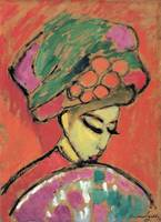 Alexei Jawlensky~Young Girl with a Flowered Hat