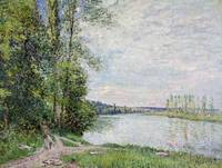 Alfred Sisley~The Riverside Road from Veneux to Th