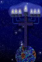 Orion with Menorah Cross
