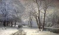 Anders Andersen-Lundby~A Winter Landscape With Hor