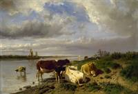 Anton Mauve~Landscape with Cattle