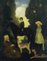 Arthur Bowen Davies~Children, Dogs and Pony