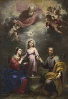 Bartolomé Esteban Murillo~The Heavenly and Earthly