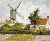 Camille Pissarro~Windmill at Knock, Belgium