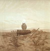 Caspar David Friedrich~Landscape with Grave, Coffi