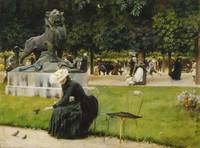 Charles Courtney Curran~In the Luxembourg (Garden)