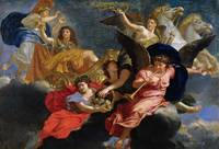 Charles Le Brun~Apotheosis of King Louis XIV of Fr