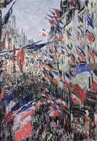 Claude Monet~The Rue Saint-Denis, Celebration of J