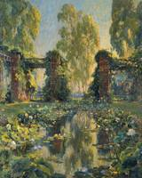 Colin Campbell Cooper~The Lotus Pool, El Encanto,