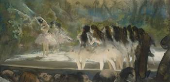 Edgar Degas~Ballet at the Paris Opéra