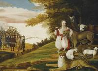 Edward Hicks~A Peaceable Kingdom with Quakers Bear