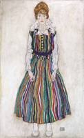 Egon Schiele~Portrait of Edith (the artist's wife)