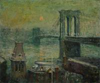 Ernest Lawson~Brooklyn Bridge