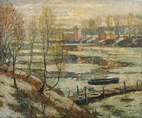 Ernest Lawson~Ice in the River