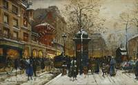 Eugene Galien-Laloue~The Moulin Rouge, Paris