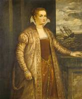 Follower of Titian~Emilia di Spilimbergo