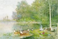 Frances Ann Hopkins~Voyageurs Resting at the Porta