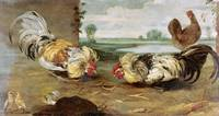Frans Snyders~A Cock Fight