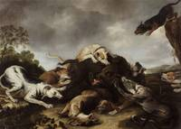 Frans Snyders~The boar hunt